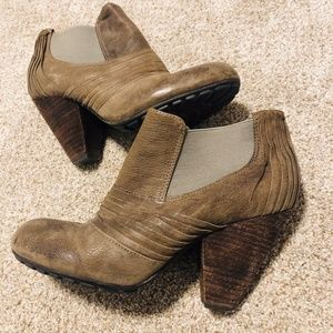 Vince Camuto Taupe Suede Slip On Ankle Booties